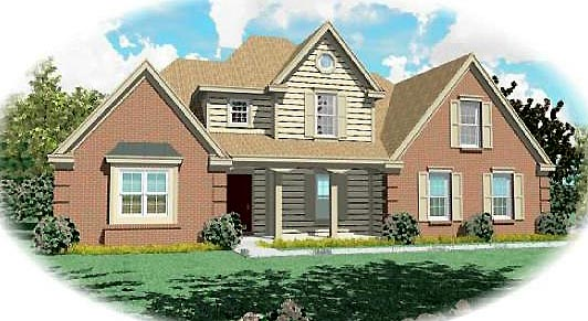 Farmhouse Traditional House Plan 47143 Elevation