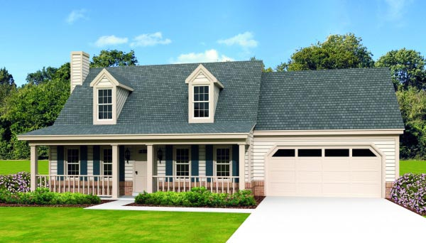 Country House Plan 47370 Elevation