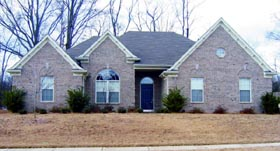 One-Story , Traditional House Plan 47447 with 3 Beds, 2 Baths, 2 Car Garage Elevation