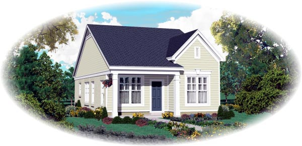 Elevation of Traditional   House Plan 47550