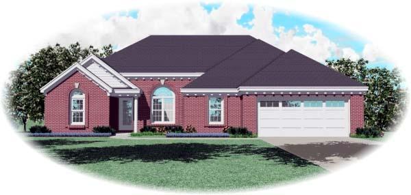 European Traditional House Plan 47952 Elevation