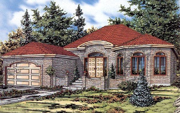 Bungalow House Plan 48000 Elevation