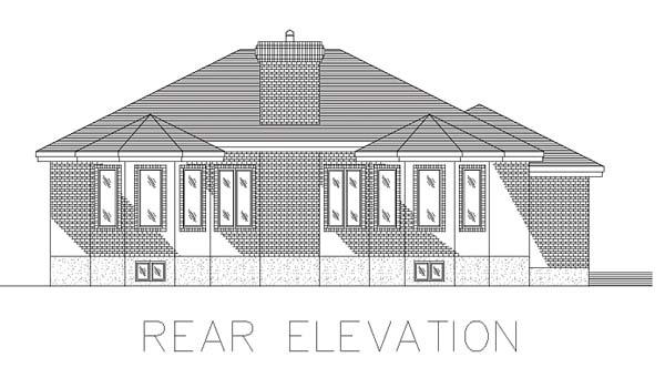 Bungalow House Plan 48000 Rear Elevation