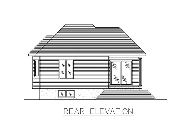 Bungalow House Plan 48011 Rear Elevation