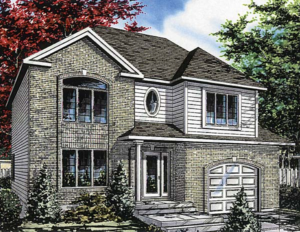 European House Plan 48014 Elevation