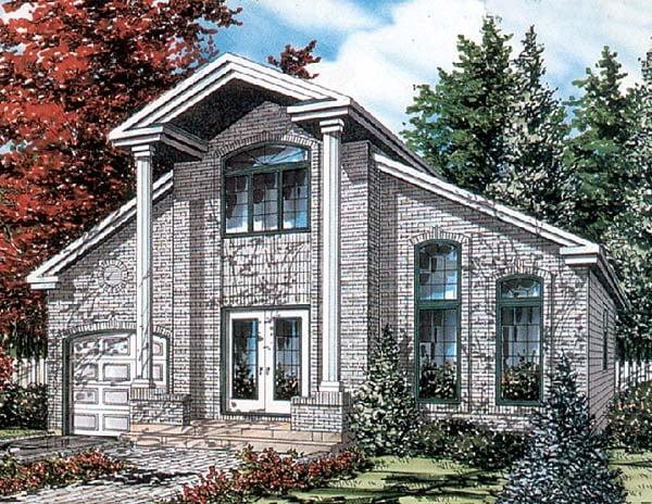 European House Plan 48019 Elevation