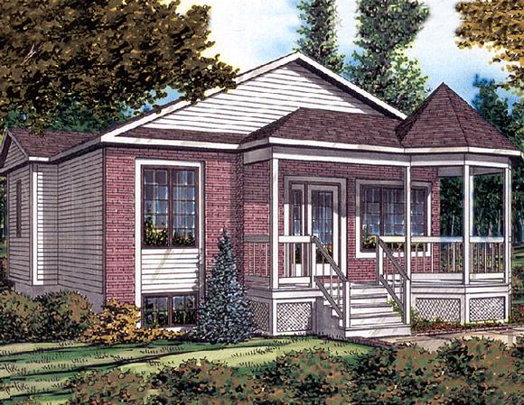 Bungalow House Plan 48030 with 2 Beds, 1 Baths Elevation