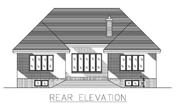 House Plan 48042 Rear Elevation
