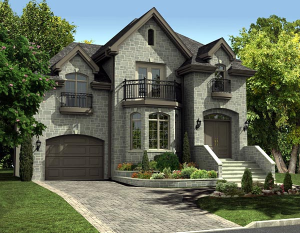 House plan 48058 at for European house plans with photos