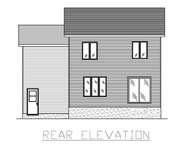 European House Plan 48070 Rear Elevation