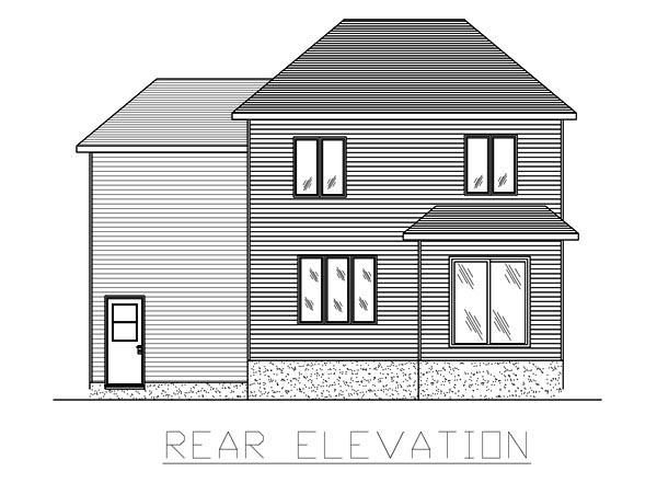 European House Plan 48072 Rear Elevation
