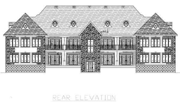 Multi-Family Plan 48075 Rear Elevation