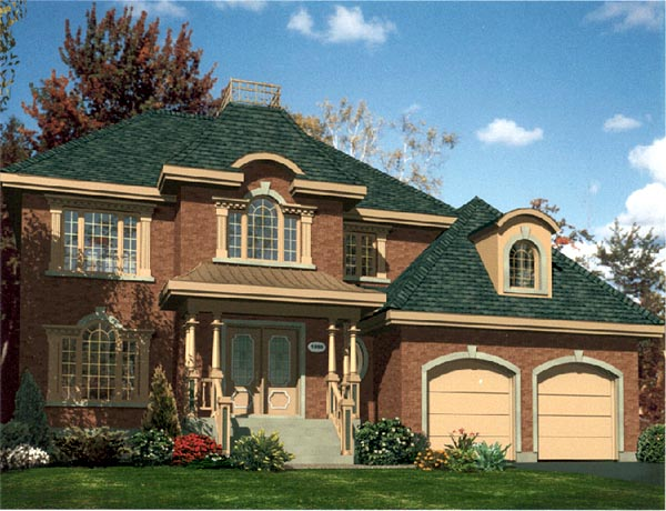 Colonial House Plan 48118 Elevation