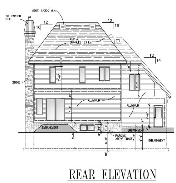 Victorian House Plan 48135 Rear Elevation