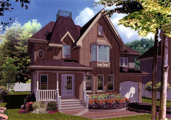 European House Plan 48145 Elevation