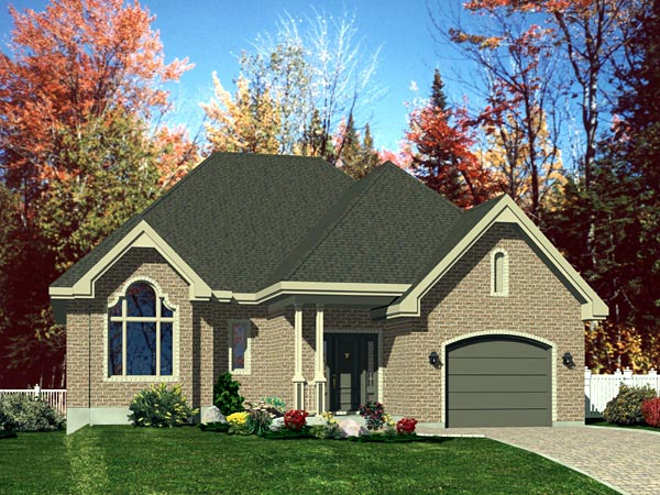 European House Plan 48167 Elevation