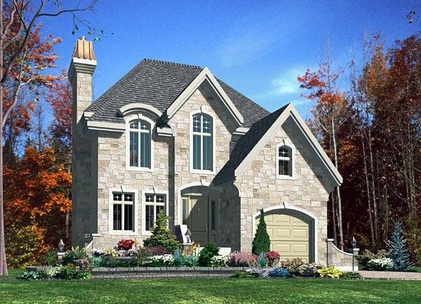 European House Plan 48169 Elevation