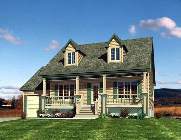 Cape Cod House Plan 48171 Elevation