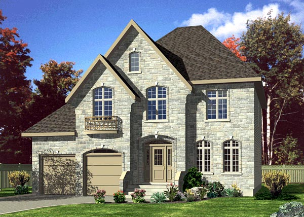 House plan 48194 at family home plans for European house plans for narrow lots