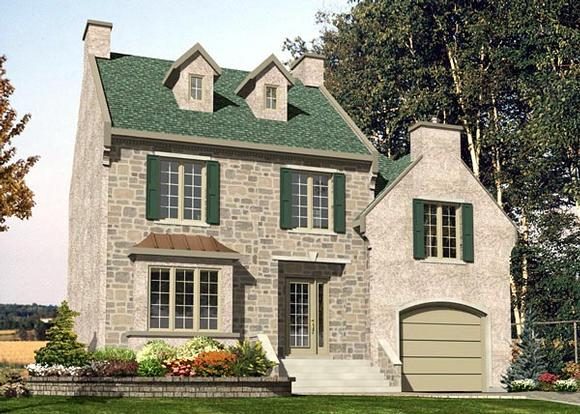 Traditional House Plan 48211 with 3 Beds, 2 Baths, 1 Car Garage Elevation