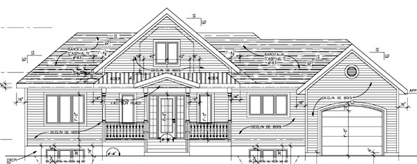 Country House Plan 48243 Rear Elevation