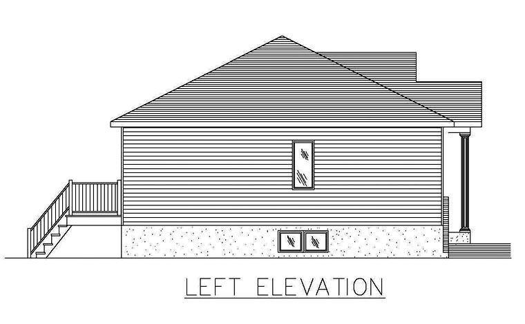 European House Plan 48253 with 2 Beds, 1 Baths Picture 1