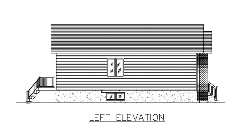 European House Plan 48260 with 2 Beds, 1 Baths Picture 1