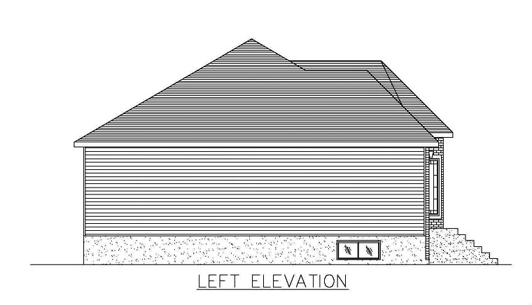 European House Plan 48262 with 5 Beds, 2 Baths Picture 1