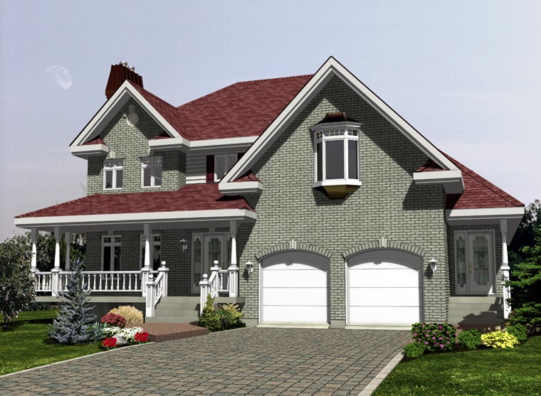 Elevation of Southern   House Plan 48271