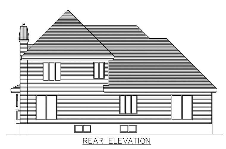 Southern House Plan 48271 Rear Elevation