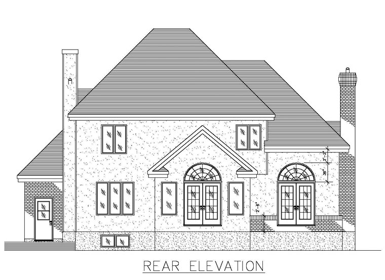 Colonial House Plan 48281 Rear Elevation
