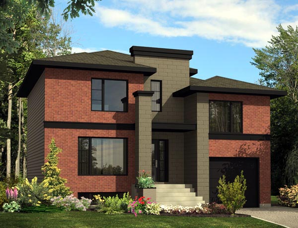 Contemporary House Plan 48299 Elevation