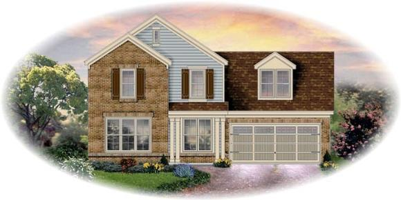Traditional House Plan 48367 with 3 Beds, 3 Baths, 2 Car Garage Elevation