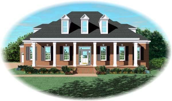 Cape Cod House Plan 48523 with 3 Beds, 5 Baths, 3 Car Garage Elevation