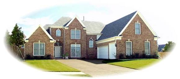 European House Plan 48555 with 4 Beds, 4 Baths, 3 Car Garage Elevation
