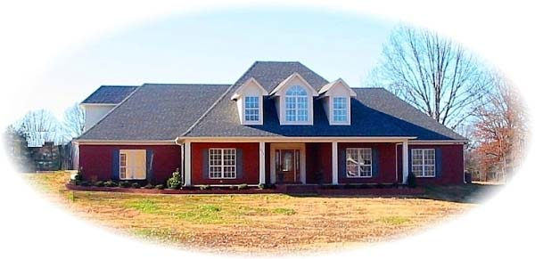 House Plan 48597 with 4 Beds, 5 Baths, 2 Car Garage Elevation