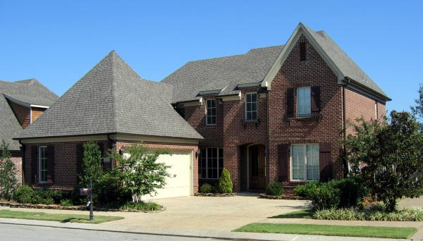 Country, European House Plan 48721 with 3 Beds, 4 Baths, 2 Car Garage Elevation