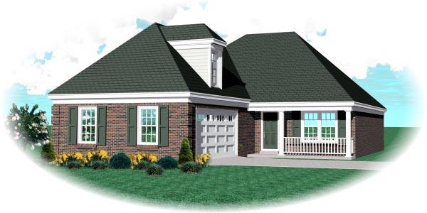European Traditional House Plan 48771 Elevation