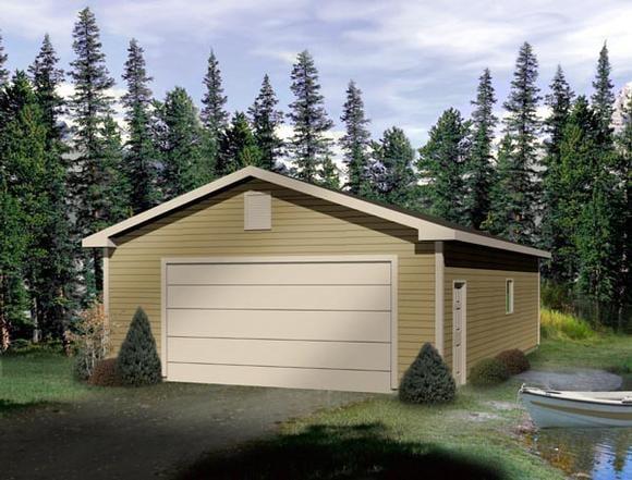 Traditional 4 Car Garage Plan 49012 Elevation
