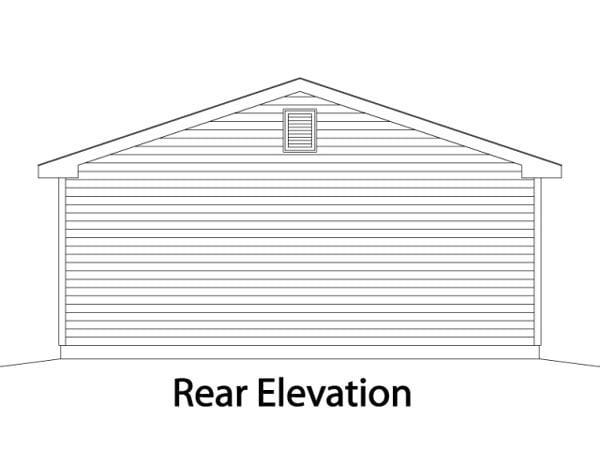 Traditional Garage Plan 49012 Rear Elevation