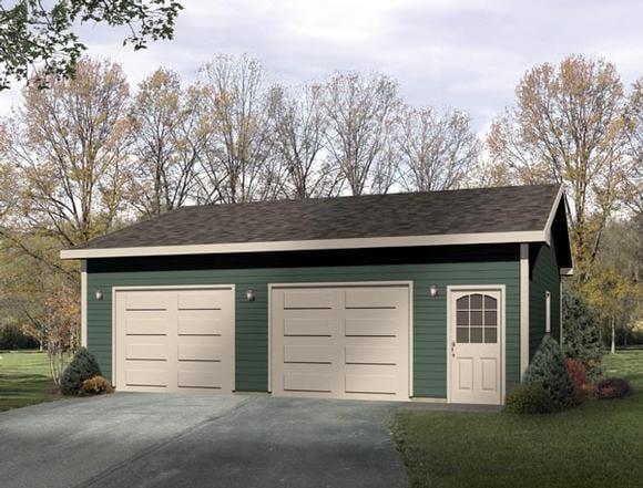 Ranch 2 Car Garage Plan 49014 Elevation
