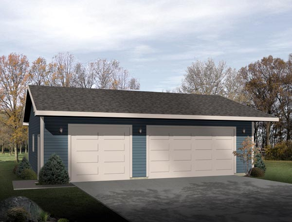 Ranch Garage Plan 49016 Elevation