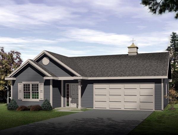 Ranch Garage Plan 49023 Elevation