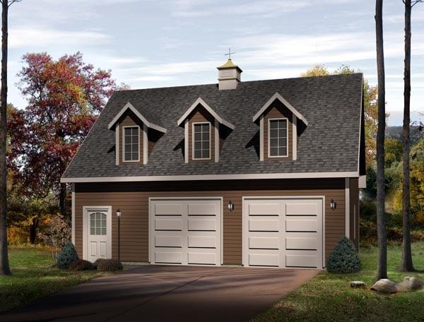 Farmhouse Garage Plan 49024 Elevation