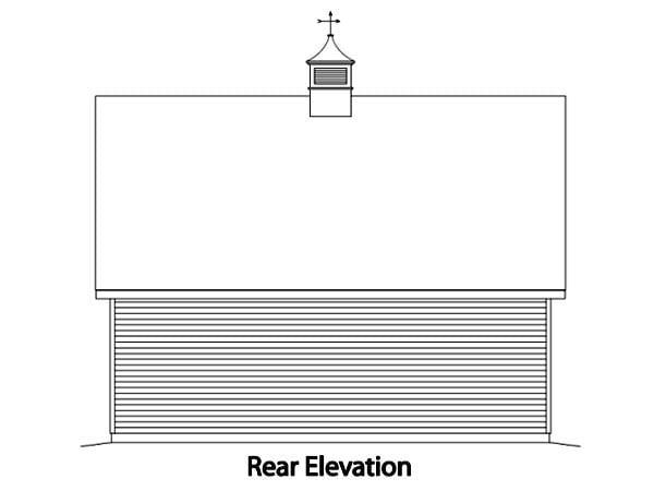 Farmhouse 2 Car Garage Plan 49024 Rear Elevation