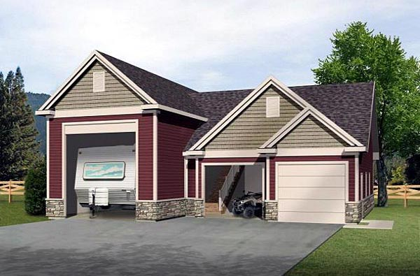 Elevation of Traditional   Garage Plan 49030