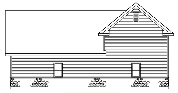 Rear Elevation of Traditional   Garage Plan 49030
