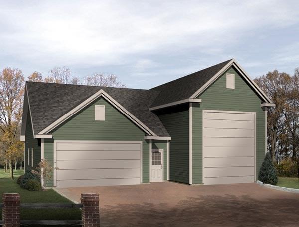 Traditional Garage Plan 49031 Elevation