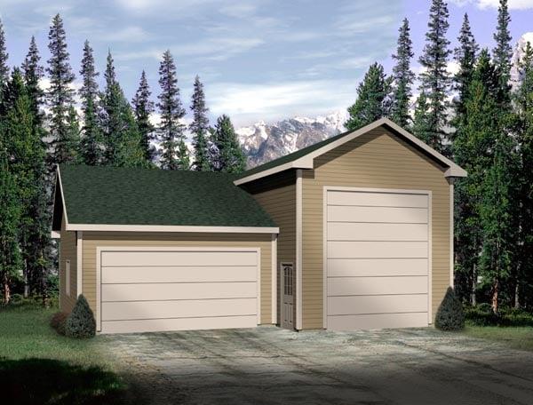 Traditional Garage Plan 49035