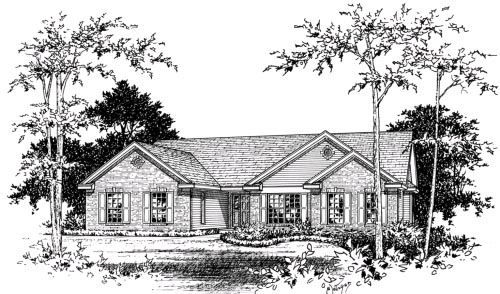 Ranch House Plan 49037 Elevation